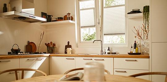 Splendid Pliss plisségordijn keuken