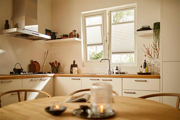 Splendid Pliss toepassing keuken Raamdeco